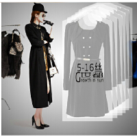 加厚PE透明 大衣婚纱 防尘罩衣服收纳袋大衣物防尘罩透明西服罩衣罩防尘袋60*130cm