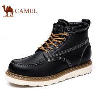 camel 骆驼男鞋 秋季新款真皮鞋子高帮鞋男士潮流工装休闲鞋