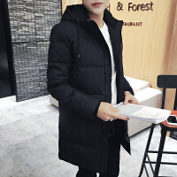 男士冬季连帽韩版修身短款羽绒服新款青年外套男装