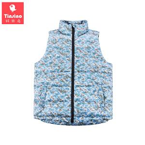 【1件3折价:62.7】纤丝鸟(TINSINO)儿童夹棉保暖马甲男童加厚上衣宝宝背心外套