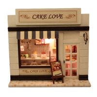 智趣屋 手工制作diy小屋蛋糕欧洲迷你店铺模型生日礼物送男生女生