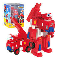 奥迪双钻 超级飞侠公仔玩偶 儿童玩具 变形机器人套装 消防车 乐迪