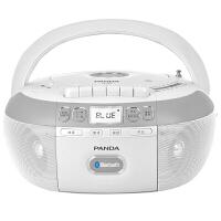 熊猫/PANDA CD-880蓝牙无线音响收录音机胎教CD机磁带复读机插卡U盘TF卡转录播放机CD-860升级版 白