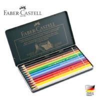Faber-Cast辉柏嘉绿铁盒油性彩铅12 24 36 60色120色彩色铅笔