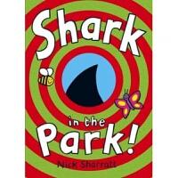 英文原版 Shark in the Park公�@里的��~ 幽默趣味洞洞�D��童�敲籼m子