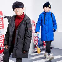 童装男童冬季羽绒服中大童白鸭绒冬款男孩中长款羽绒外套