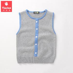 【1件3折价:59.7】纤丝鸟(TINSINO)儿童背心毛衫男女童无袖毛衣宝宝针织衫