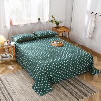 纯棉水洗棉床单单件纯色风全棉纯棉学生宿舍单人床被单双人床单1.5/1.8米床