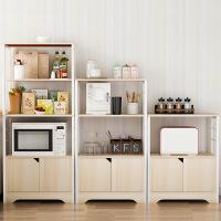 祥然 环保厨房置物架带柜门碗柜微波炉架 厨房电器收纳多功能客厅储物