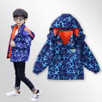 男童三合一可拆卸冲锋衣儿童冬季保暖抓绒外套