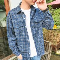 秋冬长袖韩版男士衬衣长袖衬衫常规青春流行个性工作服衬衫