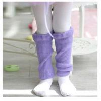长筒护膝保暖演出女童跳舞毛线 儿童芭蕾练功护腿袜套舞蹈护膝