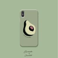 原创牛油果复古手绘苹果Xs手机壳iphonexr全包 莫兰迪max软壳 iPhone6/6s半包边硬壳 4.7寸