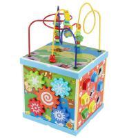 木丸子儿童多功能智慧绕珠串珠百宝箱木制积木益智玩具