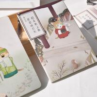 古风本子笔记本复古日记本记事本线装本古装猫咪系列流苏小清新手账本