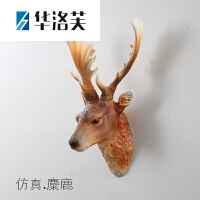 家里的装饰品 美式创意仿真鹿头壁挂客厅背景墙动物头装饰挂件复古立体壁饰树脂J