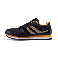 361度男鞋皮面运动鞋 春季新款防水缓震复古跑鞋男轻便跑步鞋