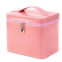 新款韩国大容量化妆箱大号多层鳄鱼纹化妆包pu化妆收纳盒现货批发