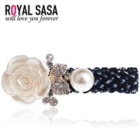 皇家莎莎RoyalSaSa刘海夹鸭嘴夹一字夹韩国复古水钻发夹边夹侧夹发饰头饰HFS509388