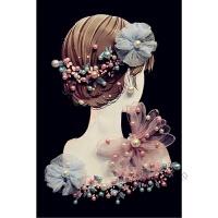 钉珠珍珠仙女立体花朵弹力百搭T恤~ 尺码偏小