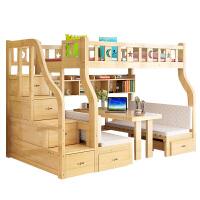 御目 儿童床 家用简约男孩女孩上下床儿童床母子床子母床高低床带书桌上床下桌组合床双层床满额减限时抢礼品