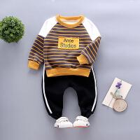 宝宝卫衣套装男童装秋冬装衣服婴儿童两件套潮款