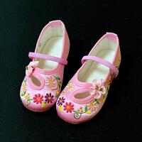 老北京布鞋儿童绣花鞋夏宝宝中国民族风公主配汉服的古代女童鞋子