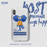 Marverick原创潮牌设计蓝色monster苹果xs max手机壳xs个性软壳8p