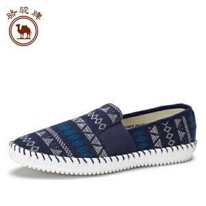 骆驼牌休闲套脚鞋 新品民族风布鞋舒适耐磨时尚休闲