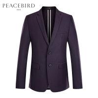 太平鸟男装 西服男休闲春季羊毛外套新款单西修身韩版商务西装男