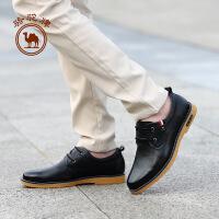 【领卷满100减30,满279减100】骆驼牌男鞋 新款舒适耐磨日常休闲男皮鞋柔软时尚男鞋