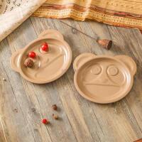 米鹿熊猫双耳餐盘
