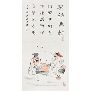 当代著名画家  王伯阳琴韵书声gr01340