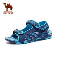 小骆驼童鞋年夏季新款儿童露趾凉鞋男童魔术贴防滑沙滩鞋子