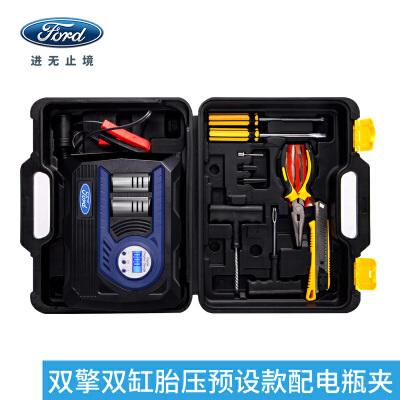 福特 车载充气泵 汽车用冲打气泵12v电动便携式轮胎补气打气筒福特官方授权