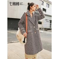 七格格毛呢大衣女中长款流行秋冬季新款韩版过膝加厚呢子外套