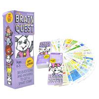 Brain Quest Preschool Ages 4-5 美国全科智力问答卡片 大脑任务 bq问答卡 学龄前 儿童