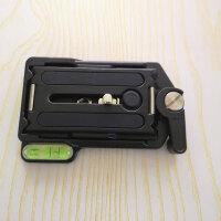 适用金钟快装板QRA-635L云台相机底座通用稳定器切换快拆脚架配件 黑色