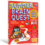 Summer Brain Quest:Between Grades K&1 大脑任务 英文原版 暑期练习册学龄前至一年