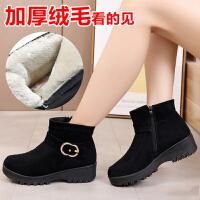 老北京布鞋女棉鞋冬中老年人防滑妈妈棉靴加绒加厚保暖老人女靴子