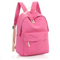 帆布双肩包新款韩版小学生书包简约旅行背包