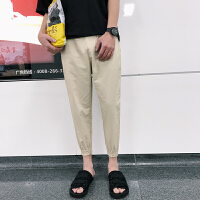 哈伦裤男春季新款韩版潮百搭青少年休闲裤纯色学生休闲运动裤