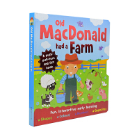 Old Macdonald had a Farm 麦克唐纳爷爷有个农场 幼儿英语启蒙认知 绘本机关书 学反义词 数字
