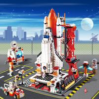 兼容乐高城市警察警车火箭模型拼装益智积木3-6-12岁男玩具