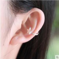 日韩风个性耳环可爱学生S925银耳夹女耳骨夹简约无耳洞耳饰