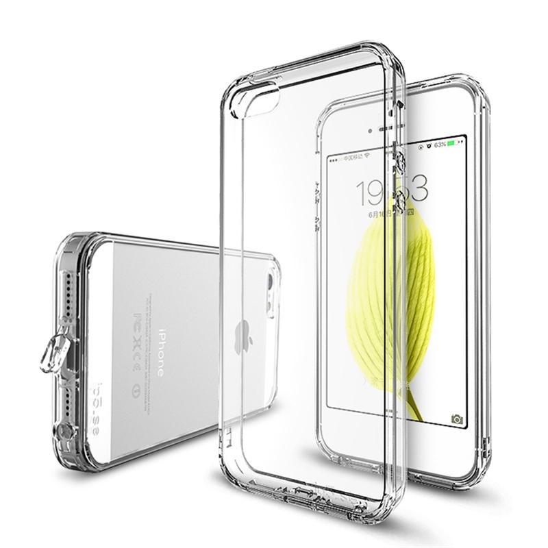 苹果5SE手机壳iphone5S硅胶防摔套i5透明软壳s加厚男女挂绳新款gp