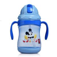 迪士尼 PP塑料杯 360ml儿童雅趣双手柄学饮杯 可爱吸管杯