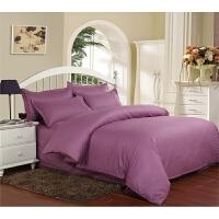 酒店宾馆床上用品全棉纯棉缎条纯色素色床单床笠式三四件套白