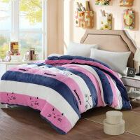 床上用品被套单件保暖单人宿舍珊瑚绒被罩双人法兰绒冬季家纺