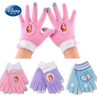 迪士尼儿童手套冬五指保暖女孩可爱公主小孩分指女童冰雪奇缘手套
